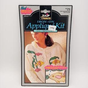 Vintage 90's DIY Shiny Fish Appliques Patch